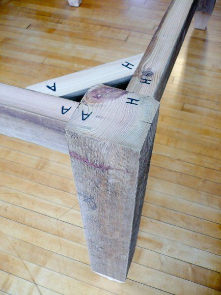 How to Make a Dining Table from Reclaimed Wood   Apartment Therapy