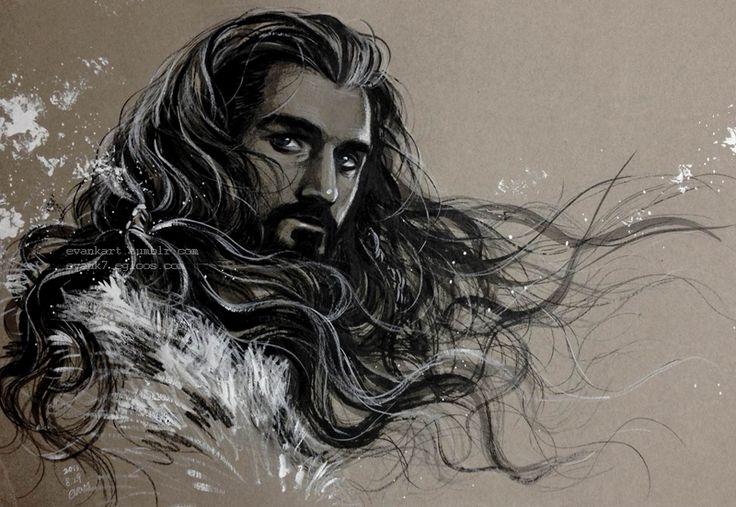 Thorin Oakenshield with wind by evankart.deviantart.com on @deviantART