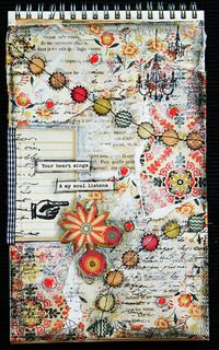 Art journal: Your heart sings, my soul listens by Lilith E. at Studio Calico