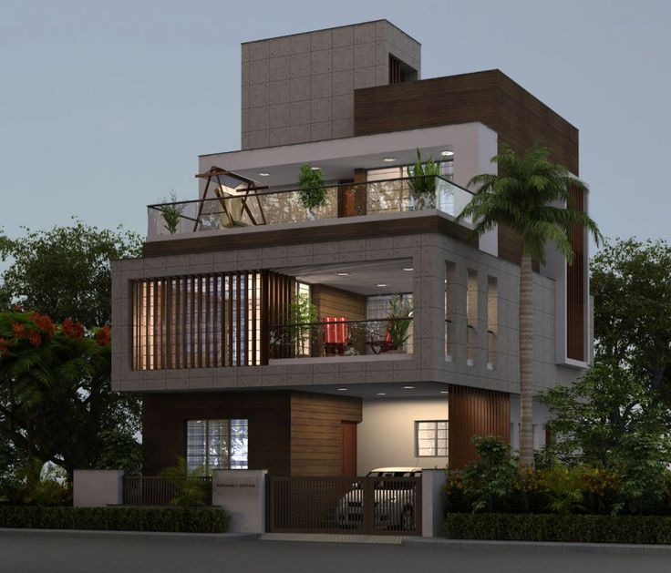 68 best images about elevation on pinterest house for Home exterior design india residence houses