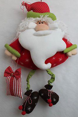 XXL Weihnachtsmann Nikolaus Anhänger Girlande Tilda Stoff..Landhaus ca 66 cm