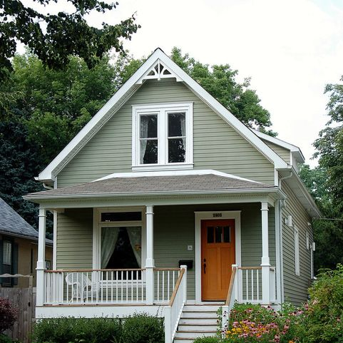 1 1 2 story front gable house design ideas pictures - Exterior paint ideas for small homes ...