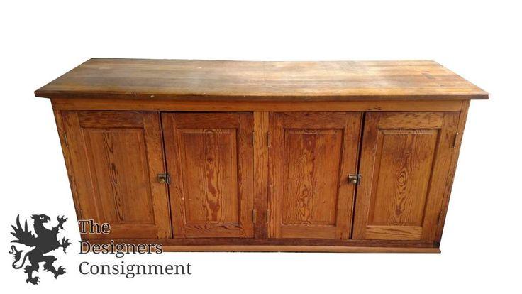 Primitive Quartersawn Oak General Store Checkout Counter Antique Desk Bar Shop | The Designers Consignment