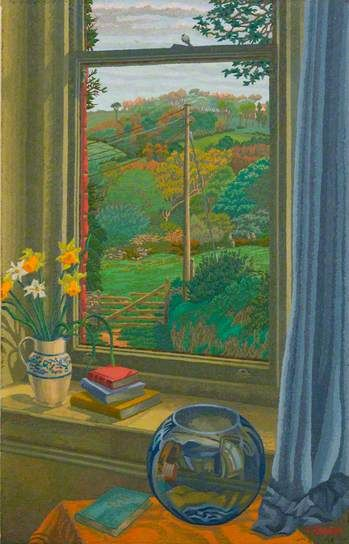 Spring Day at Boscastle - Charles Ginner 1943