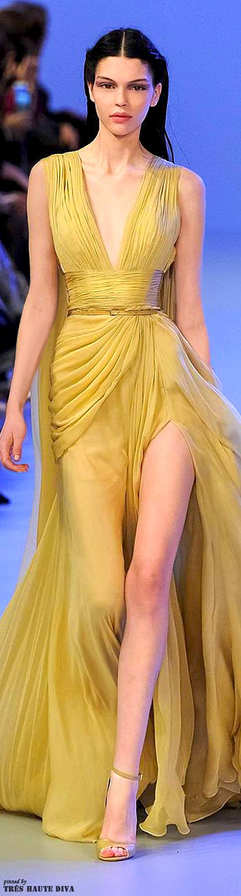 Elie Saab S/S 2014 Couture PFW im usually not one for yellow but this is beautiful