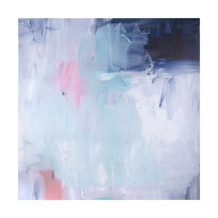 Painted Abstract Print Canvas | Kmart