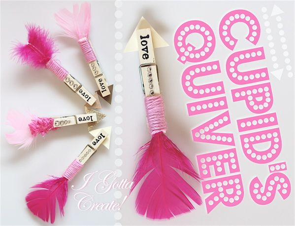 I Gotta Create!: Clothespin Love Arrow Tutorial #crafts #valentines