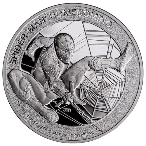 Buy Now: http://goccf.com/pm/spiderman-homecoming-2017-1oz-silver-proof-coin  Perth Mint New Release: Spider-Man: Homecoming 2017 1oz Silver Proof Coin - Coin Community Forum