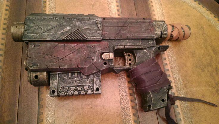 STEAMPUNK gun Red  Nerf Recon toy gun ! For cosplay