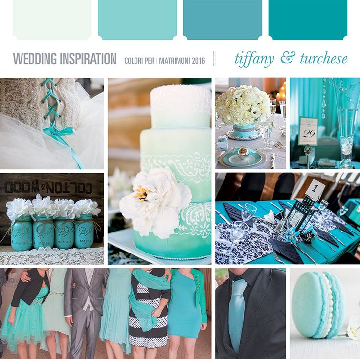 Matrimoni 2016: scelta del colore - Wedding Inspiration Blog || tiffany e turchese - tiffany and turquoise