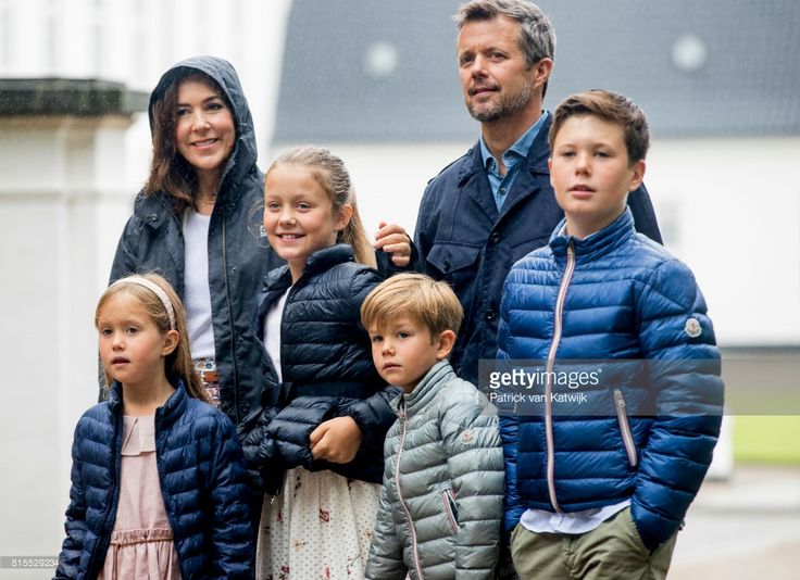 Crown Prince Frederik of Denmark, Crown Princess Mary of Denmark, Prince Christian of Denmark, Princess Isabella of Denmark, Prince Vincent of Denmark and Princess Josephine of Denmark attend the Ringsted horse ceremony at Grasten Slot during their summer vacation on July 16, 2017 in Grasten, Denmark.