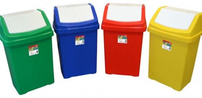 50L Recycling Swing Bin Blue
