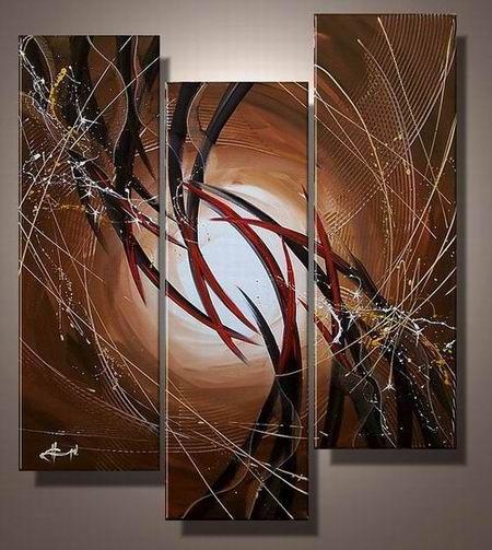 Ručně malovaný obraz - abstrakce 033
