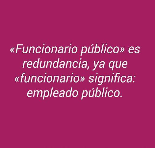 «Funcionario» = «empleado público»