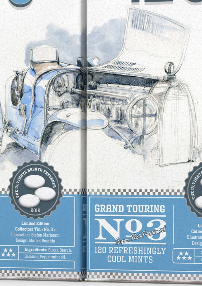 'Grand Touring' packaging by Stefan Marjoram