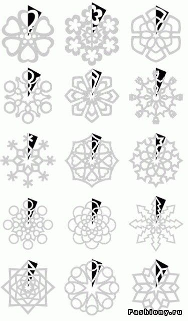 Paper Snowflakes cutting PATTERNS