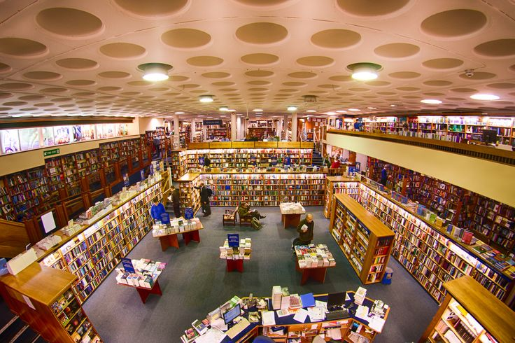 Downstairs in Blackwell's Broad Street - bookshop in Oxford