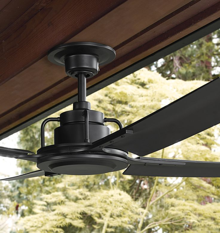 black ceiling fan. peregrine industrial ceiling fan black