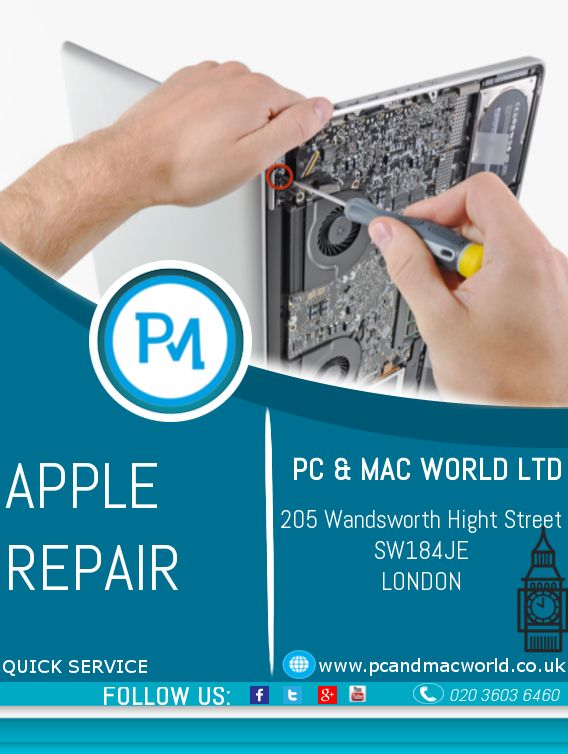 PC and MAC World LTD offers a vast variety of repair services on Apple products with guarantee at low prices. Your products are in safe hands of highly experienced engineers with over 15 years of experience, ready to come to your home! Are you from Chelsea and you need help? We offer onsite computer repair services in Chelsea! In case you want to bring the product directly to our shop, you can find us on the following address: 205 Wandsworth High Street, London, SW18 4JE, 02036036460