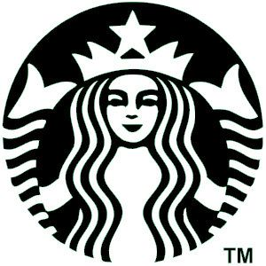 Starbucks vinyl decal by InfiniteInspiration on Etsy, $5.00. I like this one better because it is all black and white