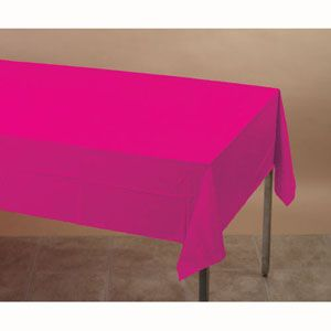 Hot Magenta Plastic Table Cover  - $5.95 See more at http://myhensparty.com.au/