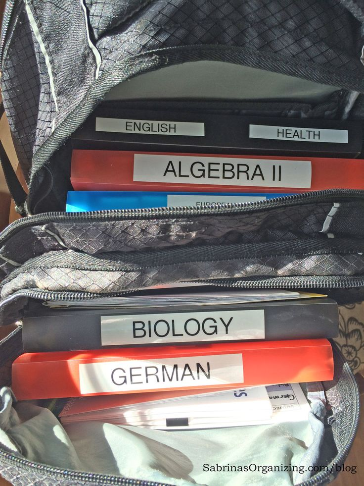 inside the backpack - organization for back to school