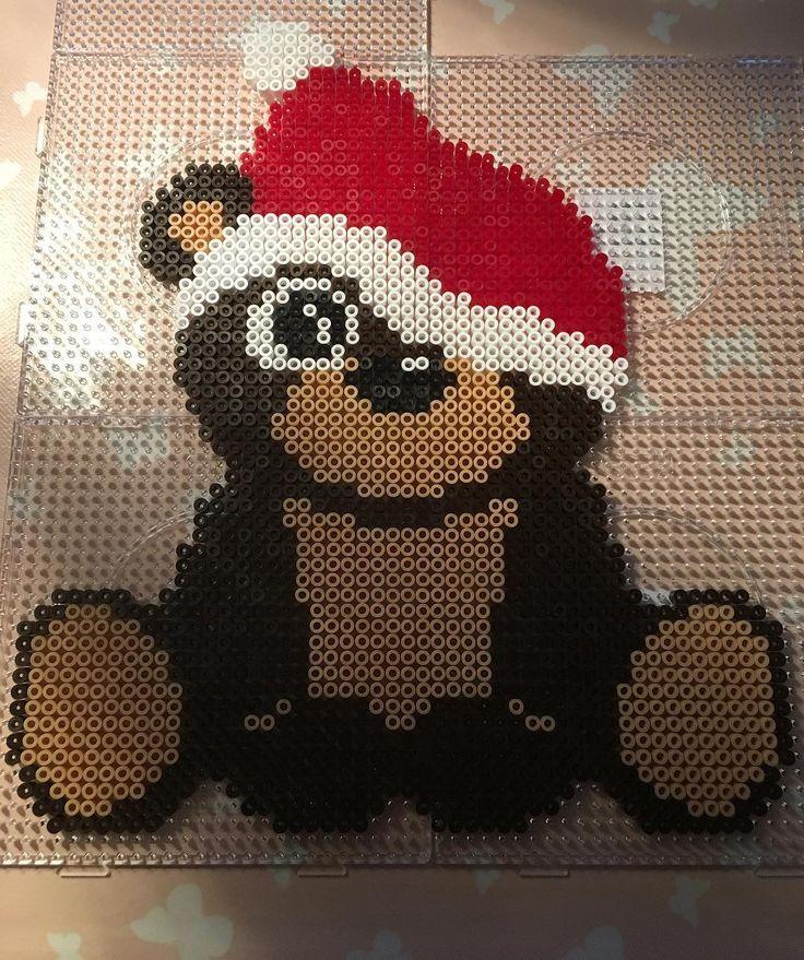 #anjatakacs #teddybear #christmas2016 #hama #perlerbeads