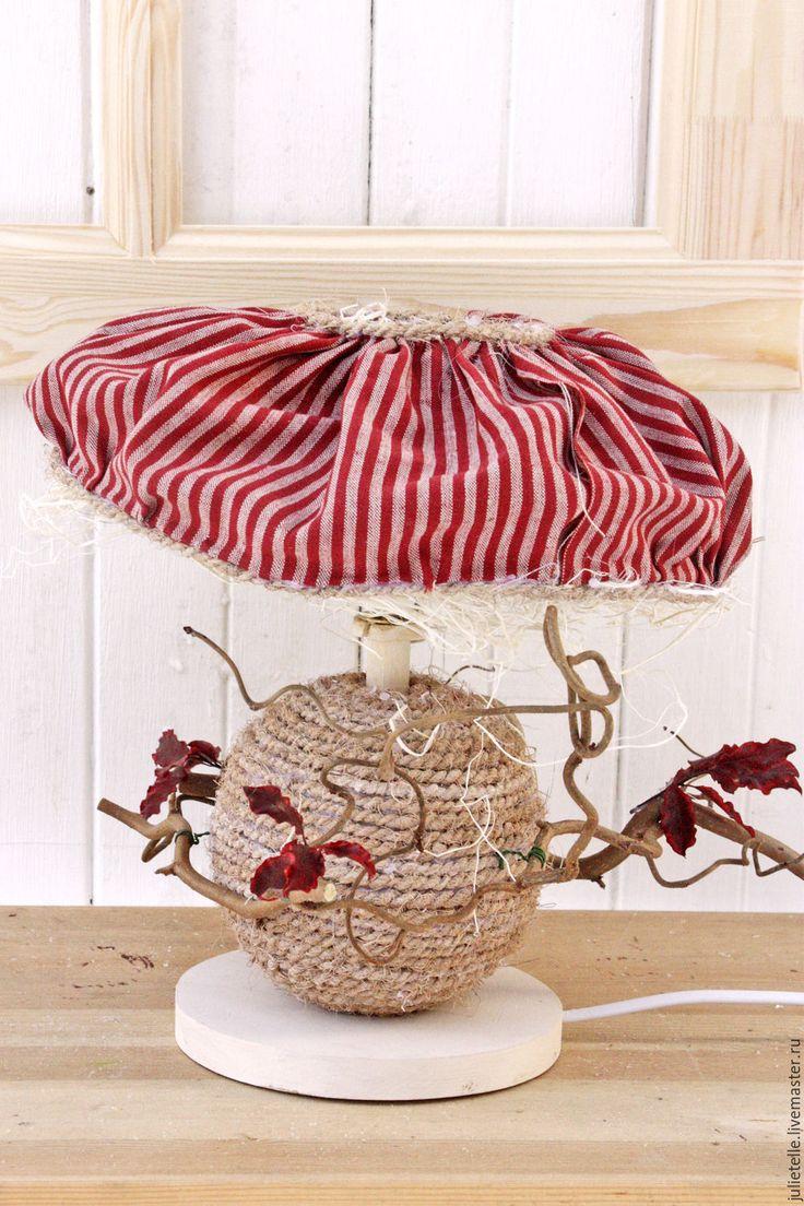Купить Настольный светильник - ярко-красный, светильник, светильник для спальни, прованс, ручной декор