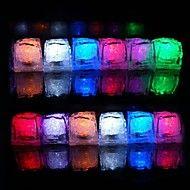 12pcs+Color+Changing+Ice+Cubes+LED+lys+Bryllup+Fest+julen+Bar+Restaurant+–+NOK+kr.+84