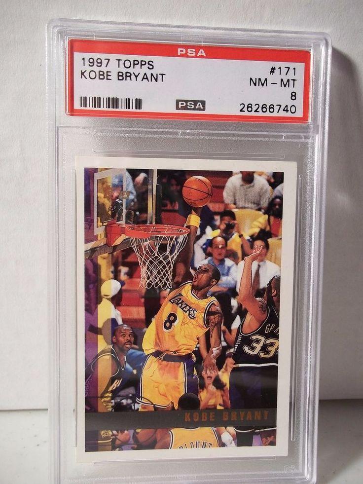 1997 topps kobe bryant psa nmmt 8 basketball card 171