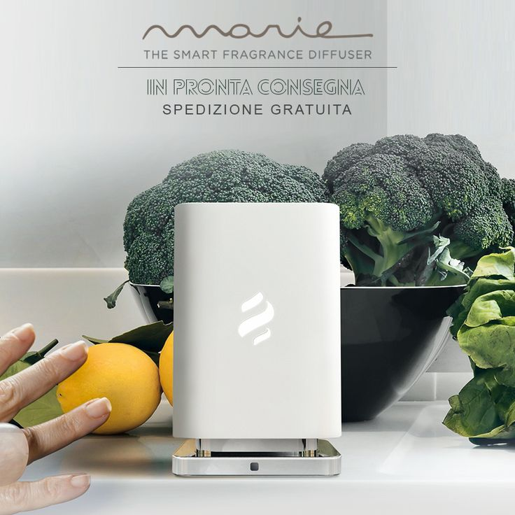 ELICA, SMART Frangrance diffuser MARIE _ Neutralization and perfuming. Wherever you like. Safe, interchangeable capsules. A simple daily task.