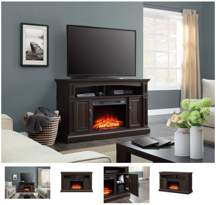 55 Inch Tv Stand With Fireplace Media Console Electric Entertainment Center Sale Whalen Entertainment Center Fireplace Entertainment Center Tv Decor