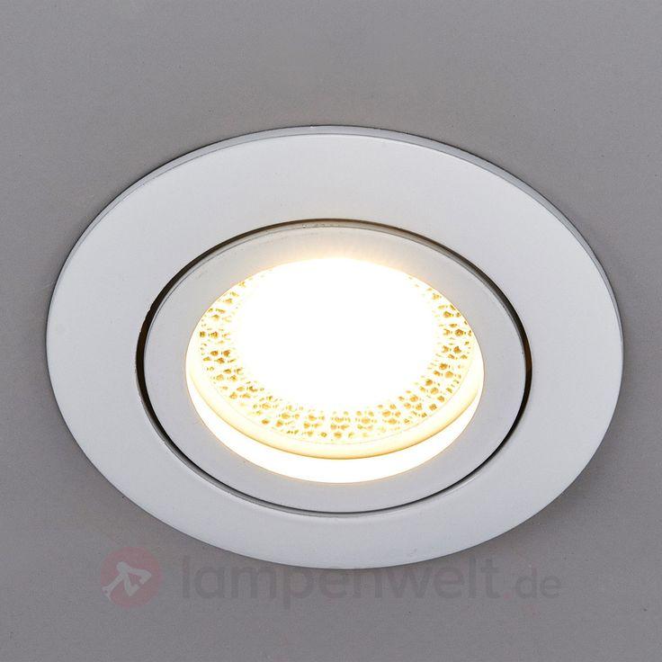 Runder LED-Einbaustrahler Lisara in Weiß 9950347