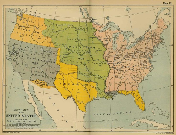 Map of the United States of America and the Republic of Texas before the  statehood of Texas.