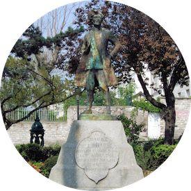 MyFrenchLife™ - Laïcité - Chevalier de la Barre Statue Montmartre