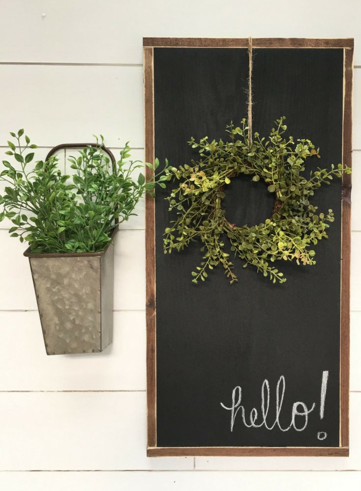 Distressed Rustic Framed Chalkboard - Rustic decor - Wall Decor - Kitchen Wall Decor - Farmhouse decor - Rustic sign - Farmhouse sign #ad