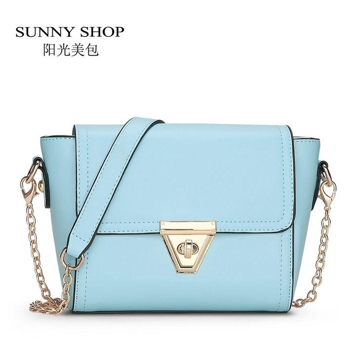 SUNNY SHOP Summer Style Candy Color Small Women Shoulder Bag Fashion Lady Messenger Bag Ice cream Color girls Crossbody bag