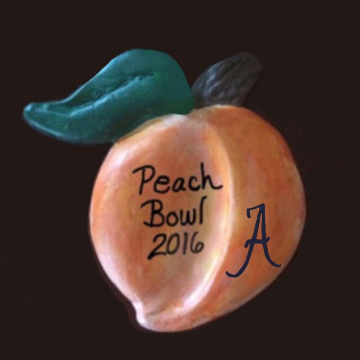 Peach Bowl 2016 ,ornament, University of Alabama, score 24-7 Christmas, Holiday Ornament inscribed with Peach Bowl 2016, Bama -24 vs UW-7 by JcwPrism on Etsy