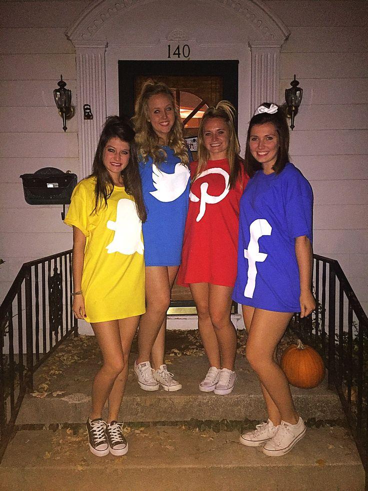 sorority Halloween costume, social media apps