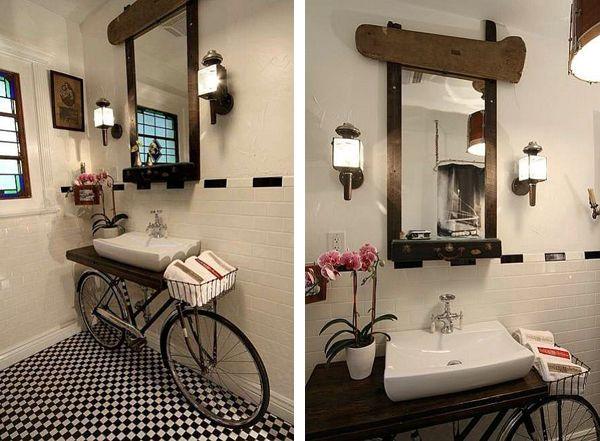 bicycle-bathroom-vanity-sink super cute and whimsical :)