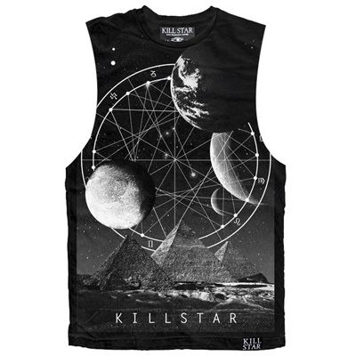 Giza Pyramids Are Space Ships unisex/mens tank top zwart - Occult