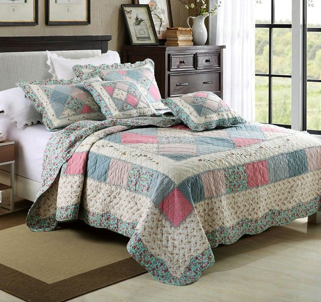 Tuscany Queen to King Bed Coverlet Set Range Blue - Shop