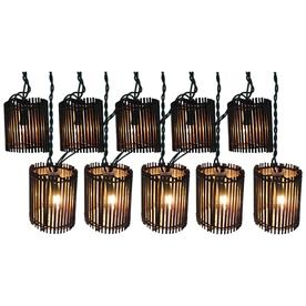Patio string lights, Rattan and String lights on Pinterest