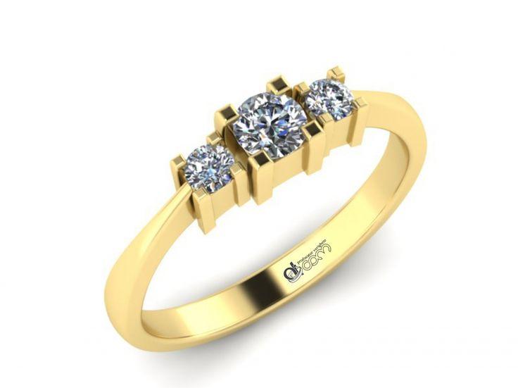 Inel de logodna ATCOM Lux cu diamant MAXIMILIAN aur galben