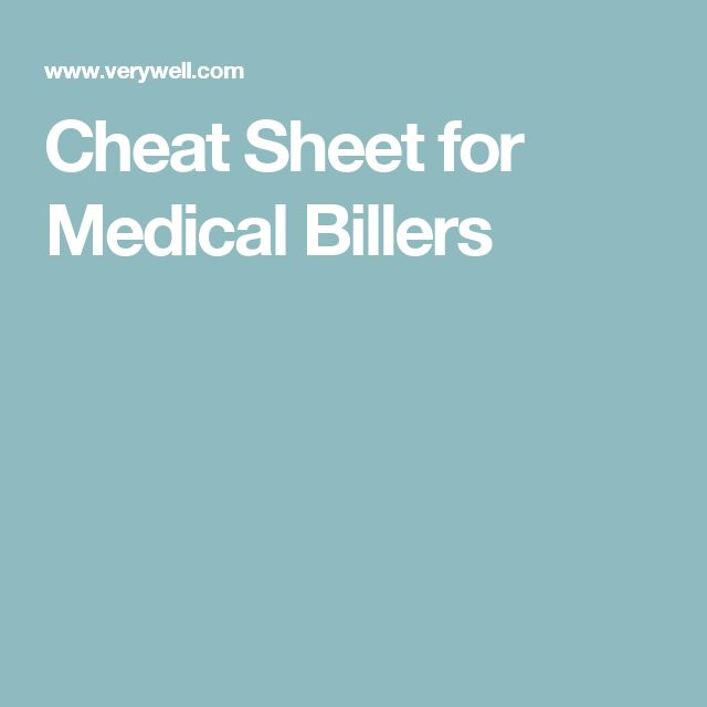 Cheat Sheet for Medical Billers