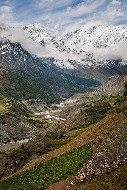 All that's left... Outside Sissu, Manali-Leh Highway, Himachal Pradesh, Lahaul and Spiti, Himachal Pradesh, India.