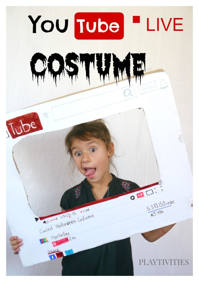 DIY Youtube Halloween Costume » PLAYTIVITIES