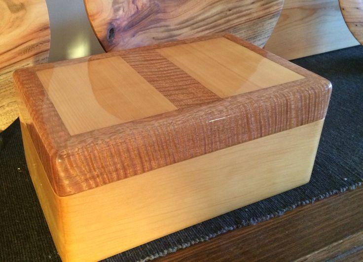 Huon pine and fiddleback jewellery box
