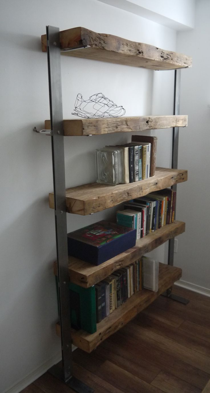 reclaimed wood shelf unit by ticicno design www.ticinodesign.com                                                                                                                                                                                 More