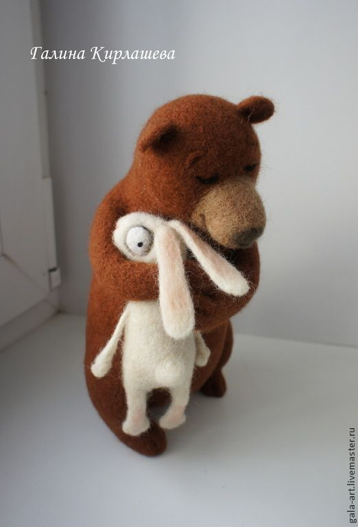 Take to breast someone cute! / Купить Мой нежный друг... - коричневый, Сухое валяние, Валяные игрушки, медведь игрушка, медведь